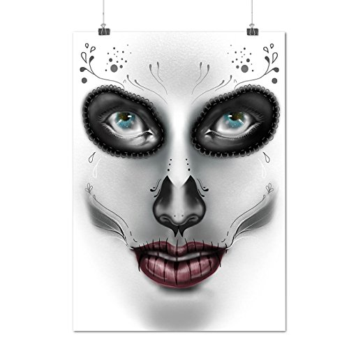 [Sugar Skull Make Up Beauty Face Matte/Glossy Poster A4 (9x12 inches) | Wellcoda] (Sugar Skull Costume Tumblr)