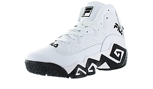 Amazon.com | Fila MB Jamal Mashburn Retro Mens Basketball Shoes White Size 7.5 | Shoes