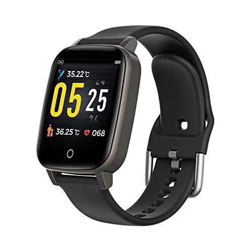1.3-inch IP67 Waterproof Activity Tracking SmartWatch (5-7 Day Battery on Single Charge, Heart Rate, 24/7 Temperature…