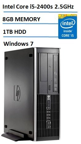 Free HP Elite Pro Slim Business Desktop Small Form Factor with Windows 7 Professional, Intel Quad Core i5 3.1GHz, 8GB DDR3 RAM, 1TB HDD, DVD RW