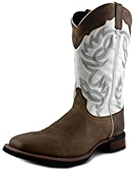 Laredo Mens Taupe Wichita Cowboy Boot Square Toe - 7821
