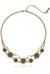 """Kenneth Cole New York """"Sprinkle Stone"""" Mixed Chain Gold Necklace"""