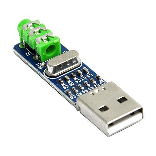 Gotd 5V USB Powered PCM2704 MINI USB Sound Card DAC Decoder Board for PC (Blue)