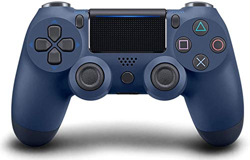 Game Controller for PS4 Wireless Gamepad for PS4/PS4 Pro/PC and Laptop with Vibration and Audio Function, Mini LED Indicator, High-Sensitive Controller with Anti-Slip (Midnight Blue)