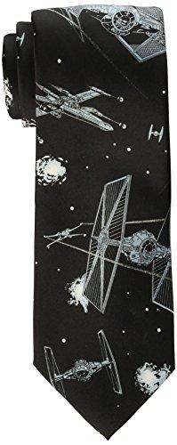 Star Wars Men's Battle Scene Tie, Black, One Size