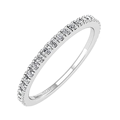 10K Gold Anniversary Diamond Band Ring (0.22 Carat) - IGI Certified