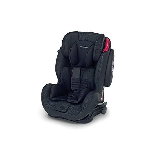 Foppapedretti Isodinamyk Seggiolino Auto ISOFIX, Gruppo 1/2/3 (9-36kg), per Bambini da 9 Mesi Fino a 12 Anni, Nero… 1