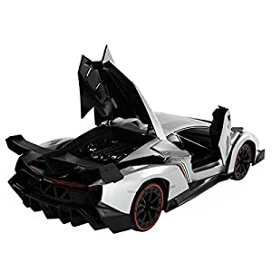 Lamborghini Veneno RC Car, 1/14 Scale Radio Control Toy Vehicle with Open Doors by Costzon