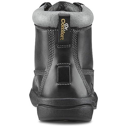 Comfort Mens Protector Black Steel Toe Diabetic Boots Dr