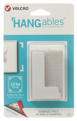 VELCRO Brand - HANGables - Removable Wall Fasteners, Corners - 8 ct (5)