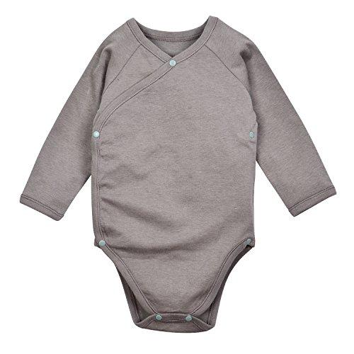 DorDor & GorGor Baby Kimono Onesies, Organic Cotton (3M, (Organic Onesies)