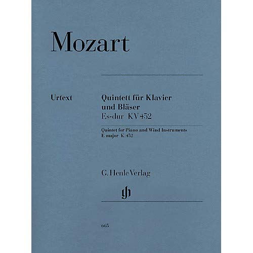 Quintet for Piano and Wind Instruments in E-flat Maj, K. 452 Henle Music Folios Book by Mozart