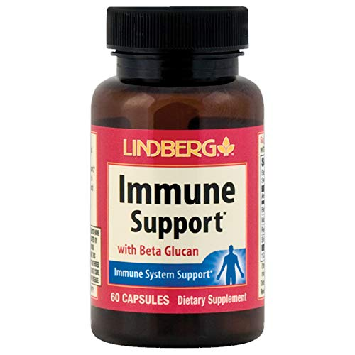 Lindberg Immune Support with Beta Glucan and Adaptogenic Mushroom Extracts (60 Capsules)