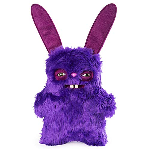 "Rabid Rabbit Fuggler Funny Ugly Monster 9"" Medium Plush Stuffed Animal Purple Fur from Fuggler"
