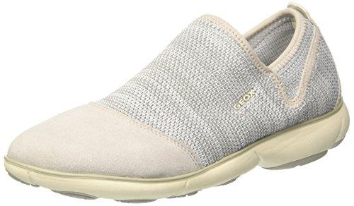 Geox D Nebula B, Sneakers Basses Femme Blanc Cassé (Off White)