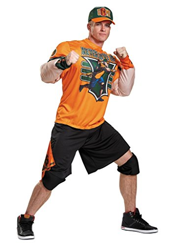 Disguise Men's Plus Size WWE John Cena Muscle Costume, Orange, XX-Large