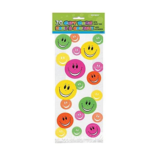 Lot de 20 Sachets à Cadeaux Smile Anniversaire Enfant