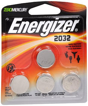 Energizer Zero Mercury 3 V cc Lithium Batteries 2032BP - 4 ct, Pack of 4 (Energizer 2032bp 4 3 Volt Lithium Coin Battery)