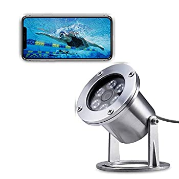Image of Barlus Underwater Camera 304 Stainless Steel IP68 1080P 2MP POE IP Camera with 16ft Special Cable Lens 3.6MM Cameras