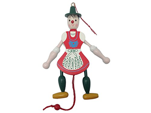 Essence of Europe Gifts E.H.G German Gift Girl Jumping Jack Toy (4.5
