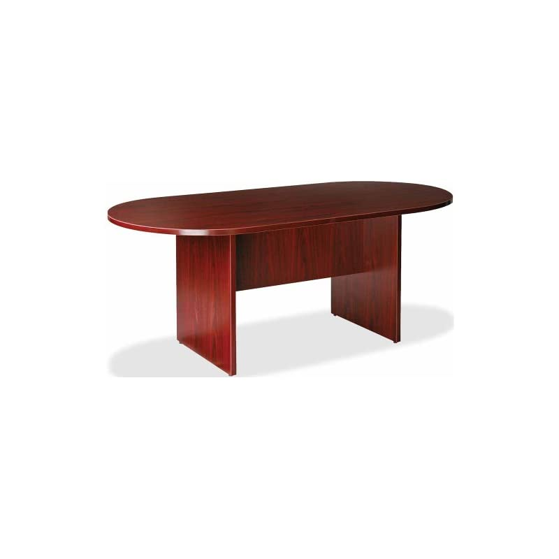Lorell Oval Conference Table, Top and Ba