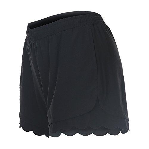 MAYUAN520 S-XL Bleu Noir Polyester respirant Damenschuhe Pantalon d'entraînement Pour ondes Courtes Active Edge Sport Running Shorts