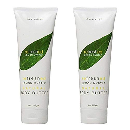 Tea Tree Therapy Lemon Myrtle Body Butter, 8 Ounce (2-Pack)