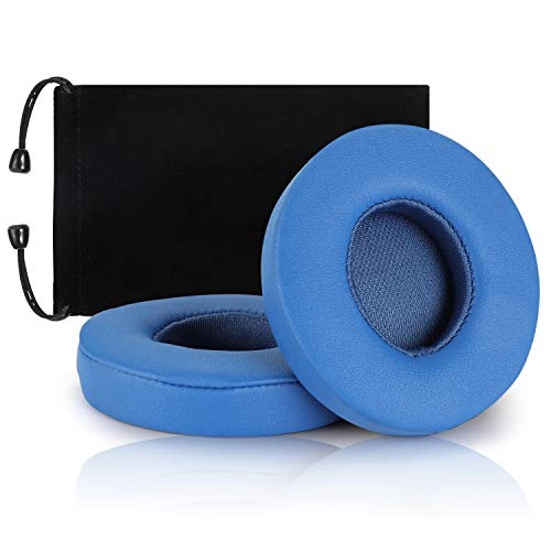 Beats Solo 2 3 Earpad Replacement,Cypher.V Ear Cushion Pads Compatible with Solo 2.0 3.0 Wireless Headphones by Dr. DRE 1 Pair (Blue)