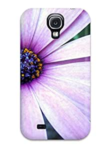 Hot Hard Plastic Galaxy S4 Case Back Cover,hot Purple Aster Case At Perfect Diy 4895035K53165799