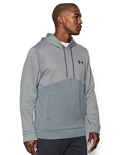 Under Armour Men's Storm Armour Fleece Twist Hoodie, Steel/Steel, Small by Under Armour (Image #2)