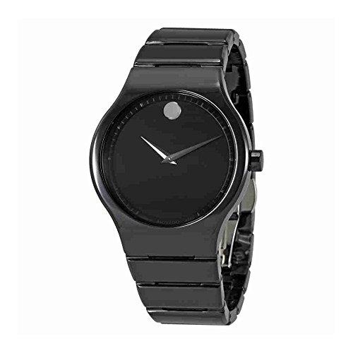 uartz Ceramic Casual Watch, Color:Black (Model: 0607047) (Movado Sapphire Watch)