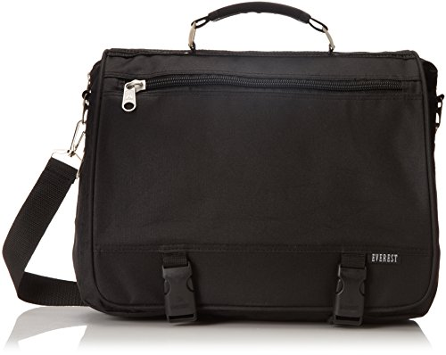Everest Portfolio Briefcase, Black, One Size ()