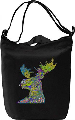 Psychedelic Deer Borsa Giornaliera Canvas Canvas Day Bag| 100% Premium Cotton Canvas| DTG Printing|