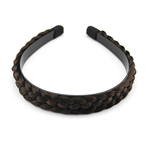 Merrylight Synthetic Braided Hair Headbands Plaited Hair Extensions Hair Bands Headband For Girl Women (Mixed -