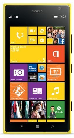 (Nokia Lumia 1520 16GB Unlocked GSM 4G LTE Windows 8 Smartphone w/Carl Zeiss Optics 20MP Camera - Yellow (No Warranty))