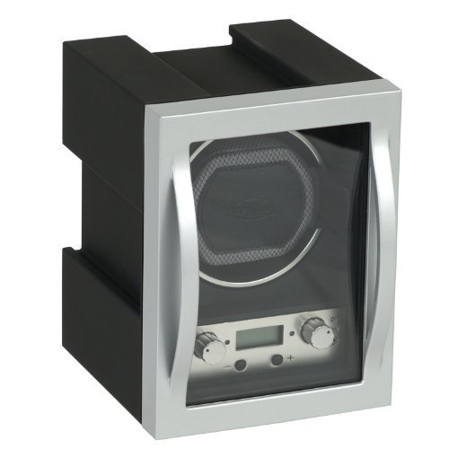 (Wolf Designs Module 4.1 Single Watch Winder with Cover, Black)