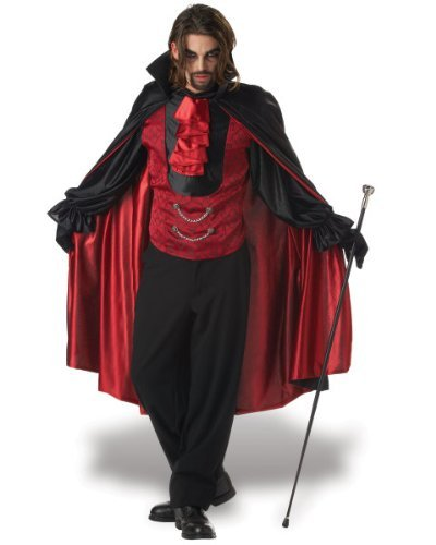Count Bloodthirst Mens Gothic Vampire Halloween Fancy Dress Costume by Mega Fancy Dress (Mega Fancy Dress Costumes)