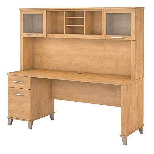 Bush Furniture Somerset 72W Office Desk with Hutch in Maple Cross ()