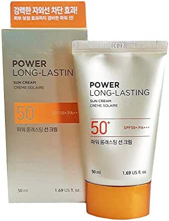 The Face Shop POWER LONG-LASTING Sun Cream SPF45PA+++ 50ml WATERPROOF Sunscreen