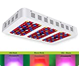 [Upgraded] iPlantop Newest 1500w LED Grow Light High Illumination(PAR),3 Chips LED Plant Grow Lamp Full Spectrum with Reflector and Double Switch for Professional Greenhouse Hydroponic Indoor Plants