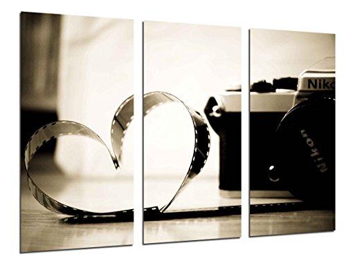 Cuadro Moderno Fotografico Camara Nikon Vintage, Carrete Fotografico de Amor, 97 x 62 cm, Ref. 26516