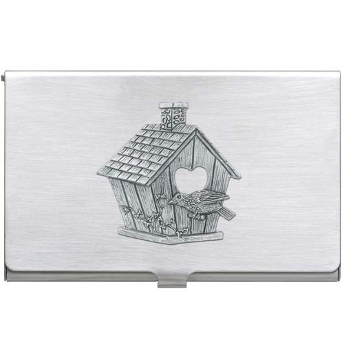 Pewter Birdhouse Business Card Case 1pc
