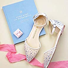 """d42bacfd07f8 Bridal Flat Wedding Shoes Women s Ivory Satin – Kate Whitcomb Shoes style """"."""