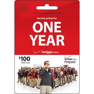 Verizon $100 ToGo Prepaid Refill Card (mail delivery)