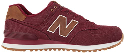 Herren Balance New Sneaker Canvas 574 Rot 15 Ounce Burgundy zAWgB5qF