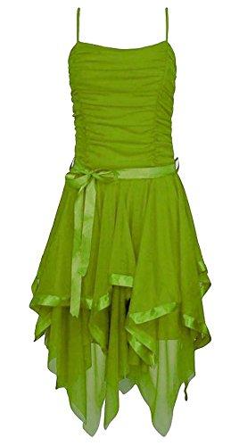 L asymtrique Prom en Apple M marie robe dames Islander soie de M de S Fashions mousseline soire Green Womens de robe Strappy xgEcwqHY0