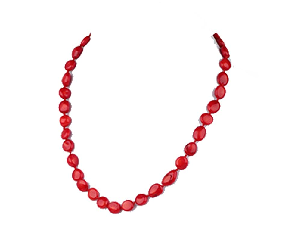 5de9e22f5e36 TreasureBay Collar de coral rojo natural