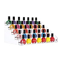 SortWise 5 Tier Acrylic Lipstick Organizer Nail Polish Makeup Case Cosmetic Stand Display Rack Holder, Holds Up to 45 Bottles in Standard