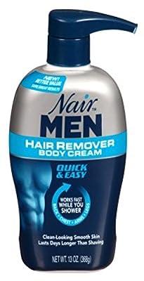 Nair Hair Remover Men Body Cream 13oz Pump (6 Pack)