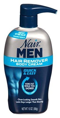 Nair Hair Remover Men Body Cream 13 Ounce Pump (384ml) (6 Pack) by Nair